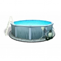 Blue Wave Martinique Above Ground Pool With Top Rail Metal Wall